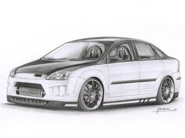 Учимся рисовать машины в карандаше